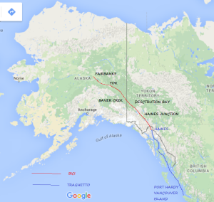 Percorso Canada e Alaska