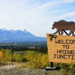 Haines jct dove la highwy 3 incontra l'Alaska highway - yucon