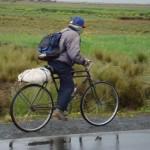 un avversario verso il lago titicaca