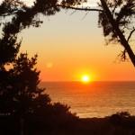 tramonto sul big sur