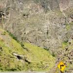 pareti di roccia nella discesa verso lima