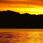 tramonto a playa san buenaventura mexico