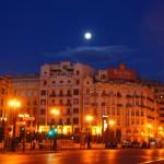 Valencia nei pressi della stazione- sveglia all'alba per un bel giro in bici