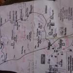 Mappa di Alberto per tornare alla strada asfaltata