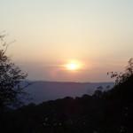 tramonto prima di arrivare a Gnomalat