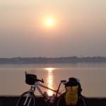 tramonto sul Mekong di una fantastica giornata