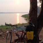 tramonto sul Mekong a Paske al termine di questa avventura