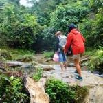 escursione lungo un torrente